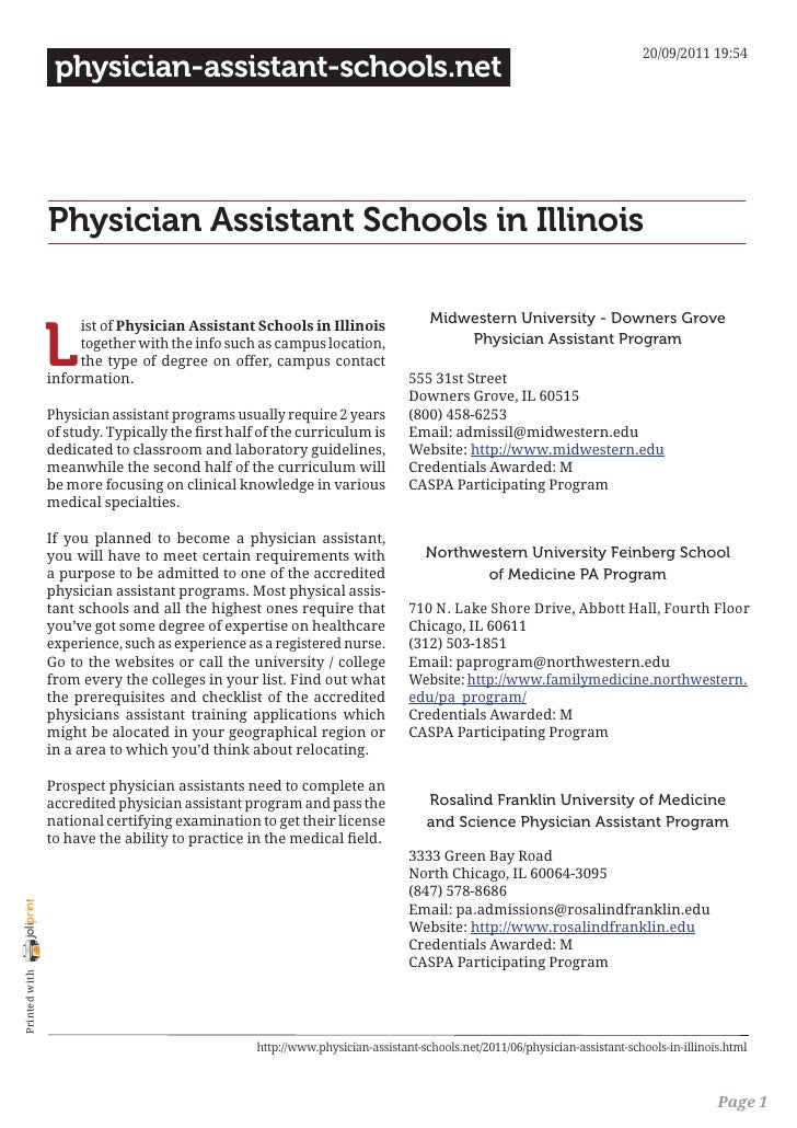 20/09/2011 19:54                 physician-assistant-schools.net                Physician Assistant Schools in Illinois   ...