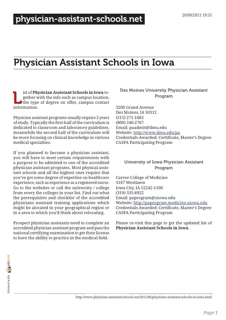 20/09/2011 19:55                 physician-assistant-schools.net                Physician Assistant Schools in Iowa       ...