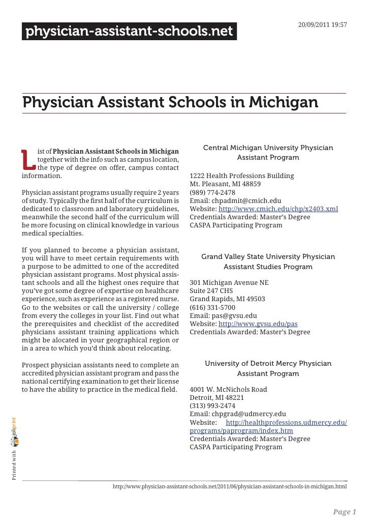 20/09/2011 19:57                 physician-assistant-schools.net                Physician Assistant Schools in Michigan   ...