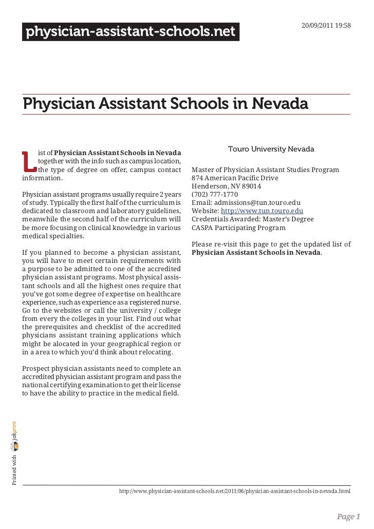 20/09/2011 19:58                 physician-assistant-schools.net                Physician Assistant Schools in Nevada     ...