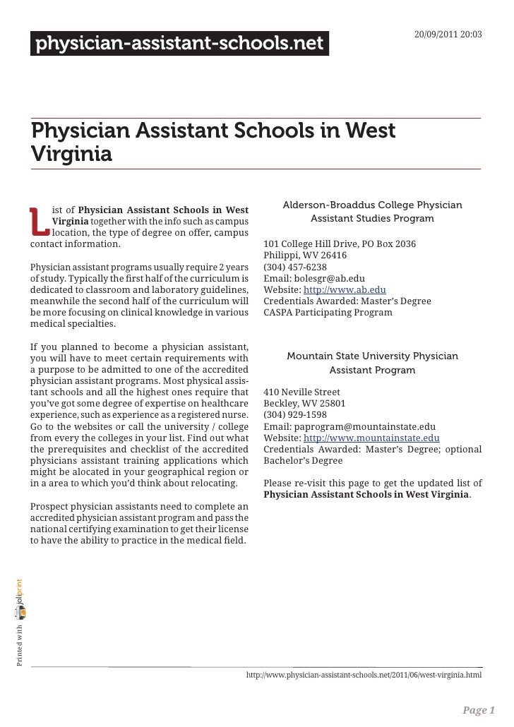 20/09/2011 20:03                 physician-assistant-schools.net                Physician Assistant Schools in West       ...