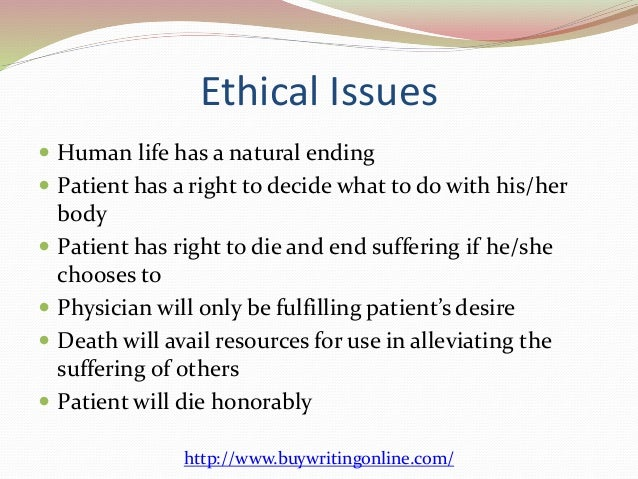 Physician assisted suicides and euthanasia right