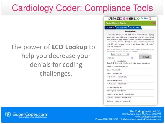 Physician coder cardiology coding tool