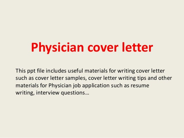 Physician cover letter physician cover letter this ppt file includes useful materials for writing cover letter such as cover altavistaventures Images