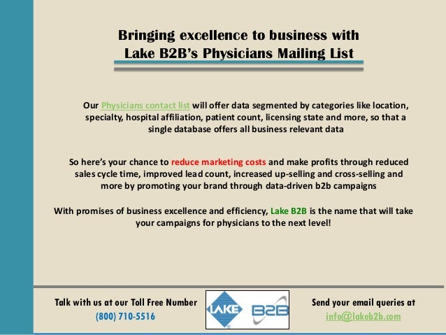 Physician email list for B2B Communication