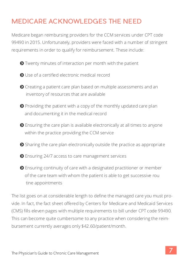 Cpt 99490 requirements improving medical billing for 99490