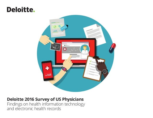 Deloitte 2016 Survey of US Physicians Findings on health information technology and electronic health records