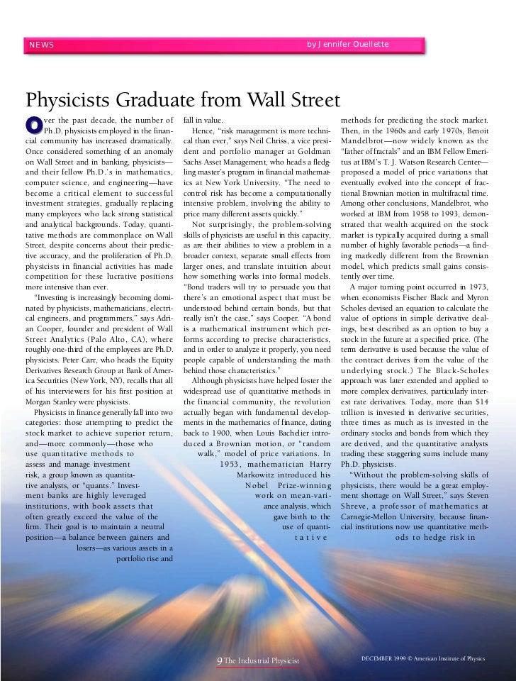 NEWS                                                                                      by Jennifer OuellettePhysicists ...