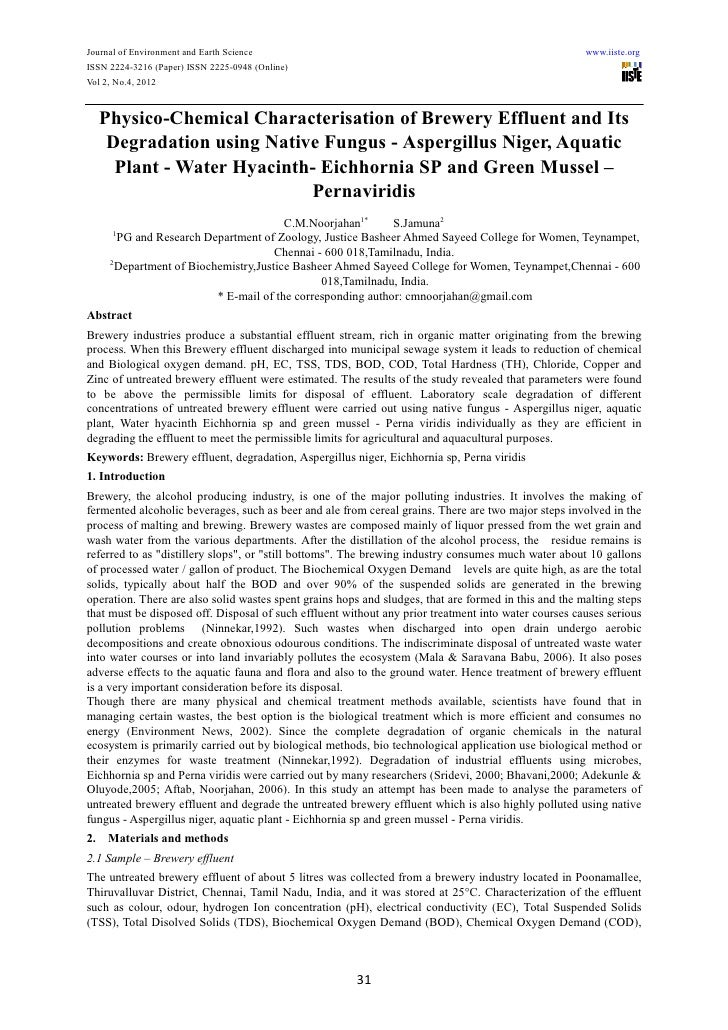 Journal of Environment and Earth Science                                                               www.iiste.orgISSN 2...