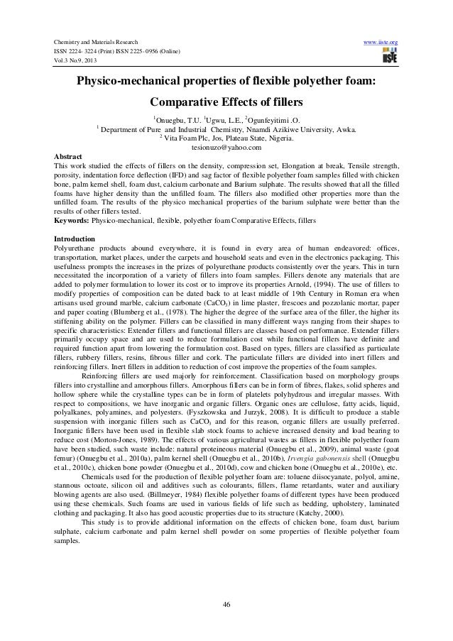 Chemistry and Materials Research www.iiste.org ISSN 2224- 3224 (Print) ISSN 2225- 0956 (Online) Vol.3 No.9, 2013 46 Physic...
