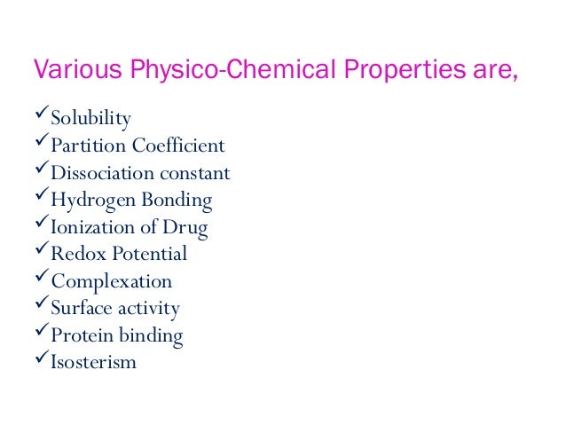 Physicochemical Properties Of Drug