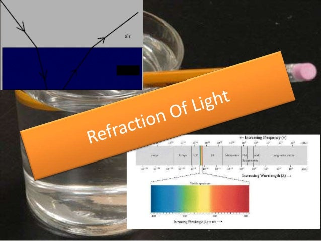 What is Refraction• The velocity of electromagnetic energy in a vacuum is  commonly known as the speed of light (Index of ...