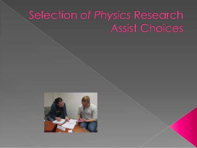 physics research coursework