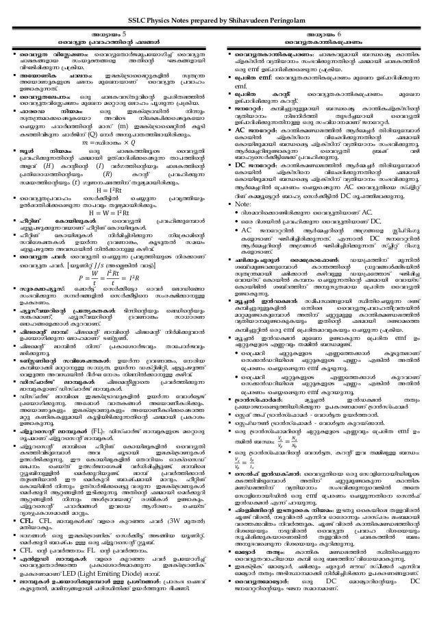 SSLC Physics Notes prepared by Shihavudeen Peringolam A[ymbw 5 sshZypX {]hml¯nsâ ^e§Ä sshZypX hntÉjWw: sshZyptXmÀPap]tbmKn...