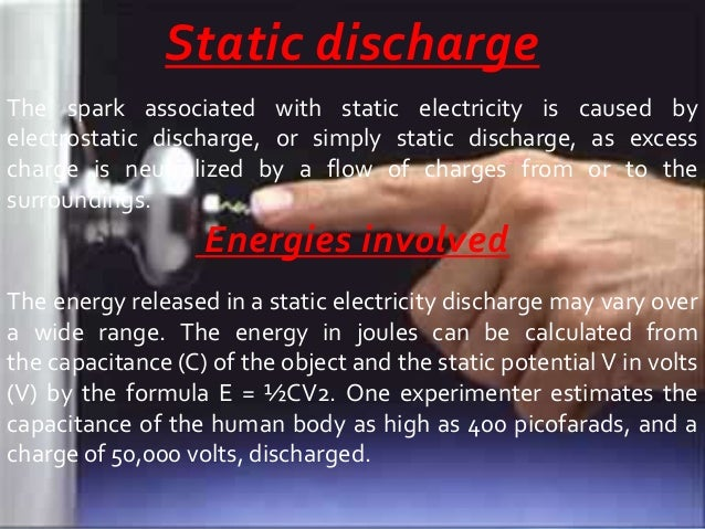 Static electricity - Remove static energy ...