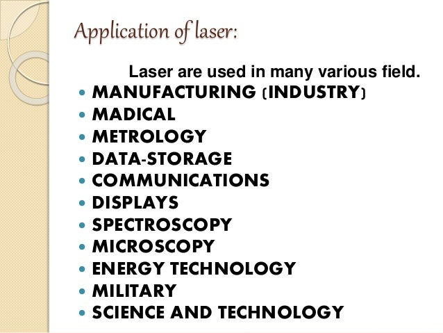 application of laser in physics