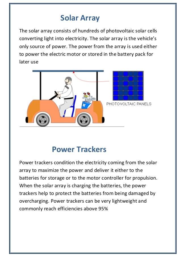 Class 12 Physics Investigatory Project - Solar Car