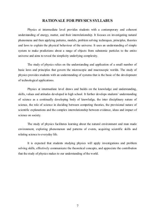 Physics Test for FMDC