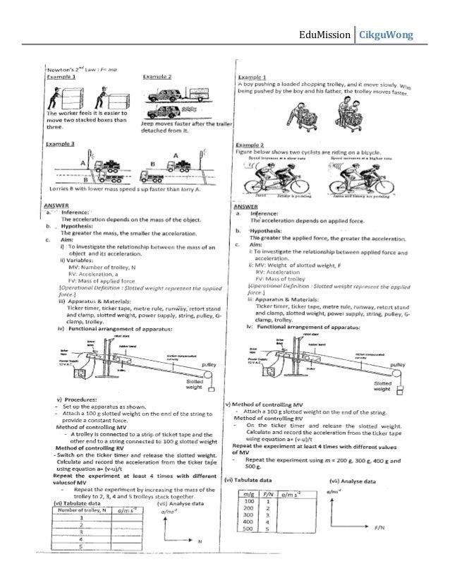 Physics preparation of mid year exam form 4
