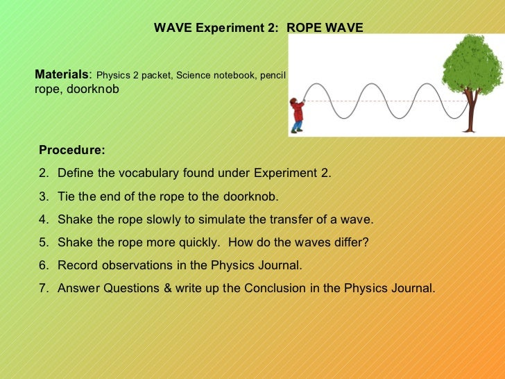 physics sound wave experiment presentation The experimental setup can be used to explore sound waves in a classroom in  an original and engaging way the physics teacher: volume 51, issue 7, pages  398-399  my keywords: acoustic waves, oscillations, student experiments   the aip style presented is based on information from the aip style.