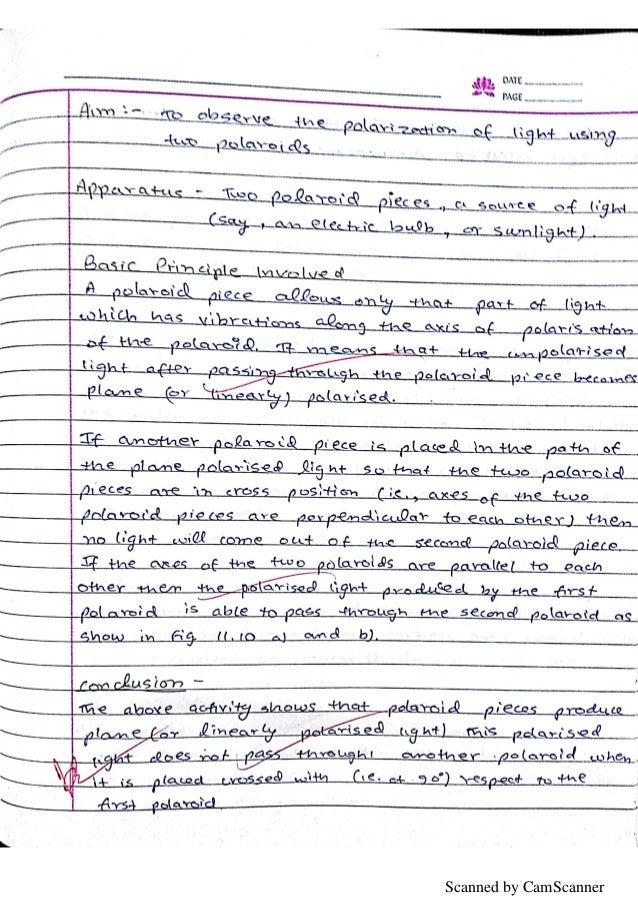Physics activity file Class 12 - Saksham
