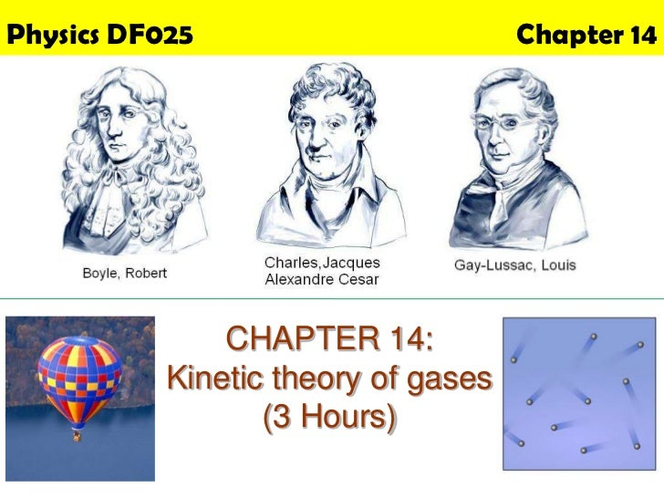 Physics DF025                        Chapter 14               CHAPTER 14:           Kinetic theory of gases               ...