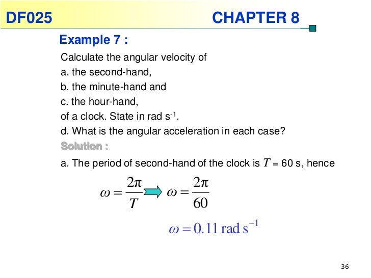 Rad S To Rpm >> Physics Chapter 8- Rotational of a Rigid Body