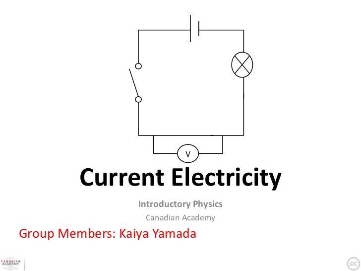 V         Current Electricity                  Introductory Physics                   Canadian AcademyGroup Members: Kaiya...