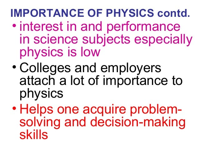 importance of physics If you understand physics you can be better at sports a lot of people may not know it but physics has a lot to do with the wonderful world of sports.