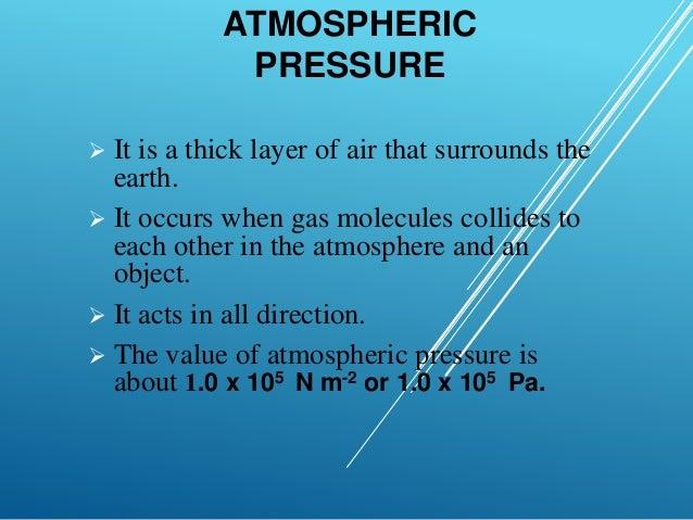 Physics Gas Pressure & Atmospheric Pressure