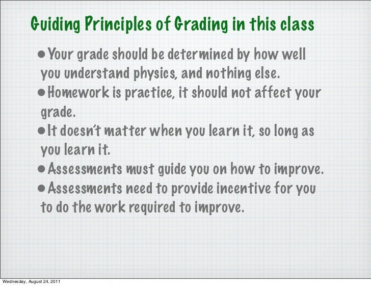 Guiding Principles of Grading in this class              •Your grade should be determined by how well              you und...