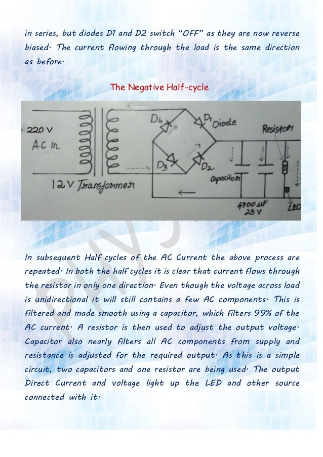 Full Wave Rectifier Project Report For Class 12 Pdf
