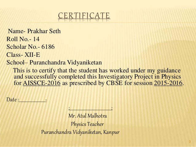 Certificate format for physics project gallery certificate certificate format for physics project image collections certificate format for physics project images certificate design certificate yelopaper Choice Image