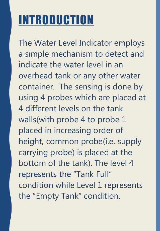 Introduction To Water Gardening: Physics Investigatory Project(Water Level Indicating System