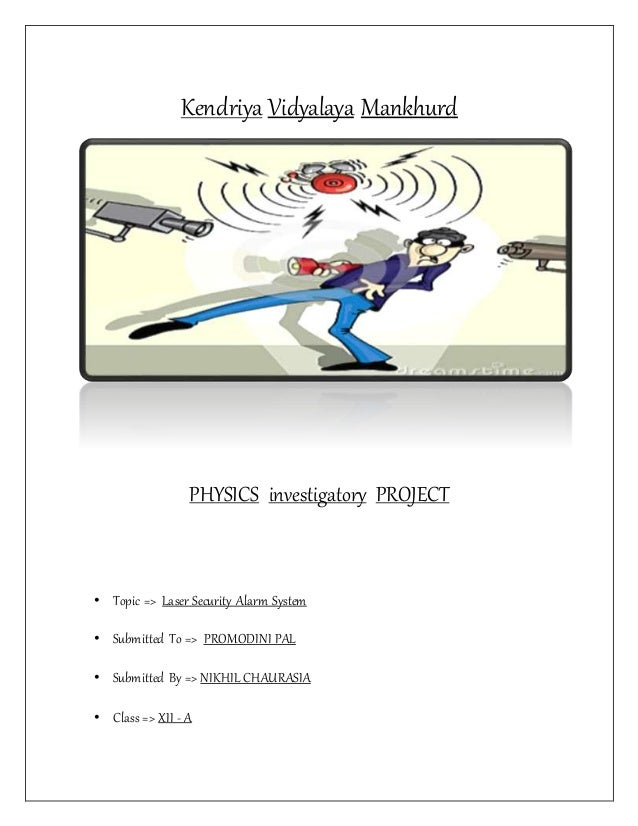 laser security alarm (Physics investigatory project 12)