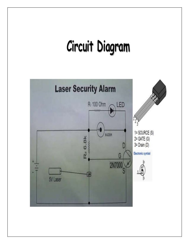 15ab57dde Laser Security Alarm (physics Investigatory Project 12) Figure 1 Simple  Circuit Diagram Home Security Alarm System Using Ldr