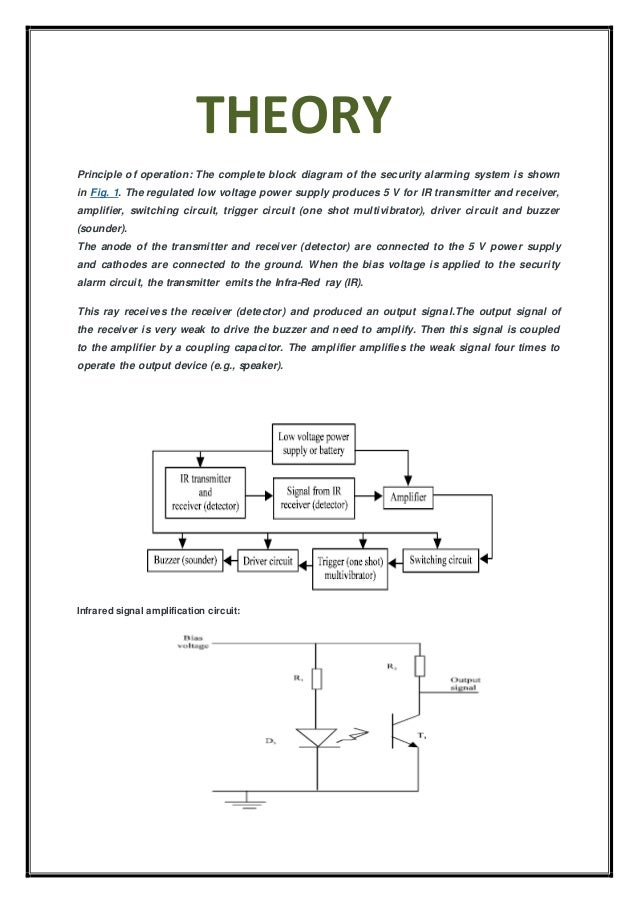 Physics Investigatory Project On Ir Based Security System