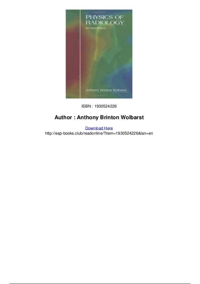 Basics of X-ray Physics - Tutorial introduction