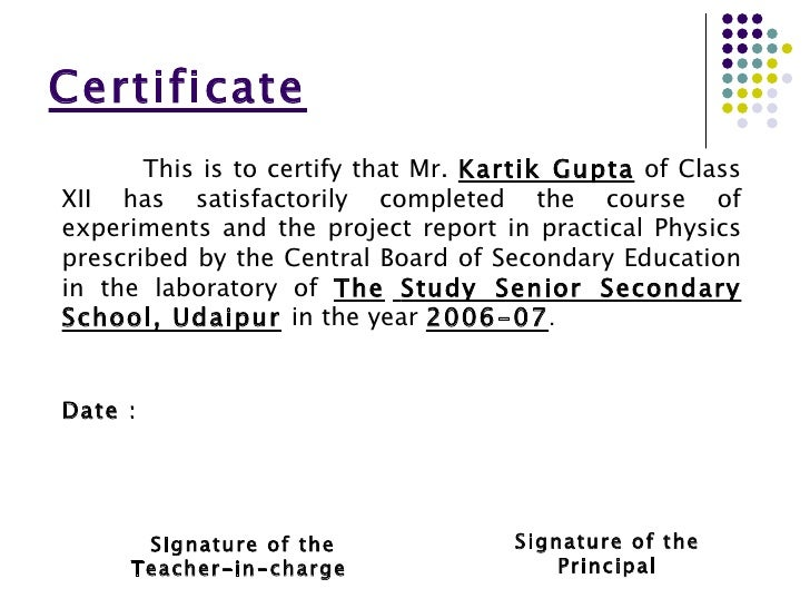 Certificate format for project of class 12th choice image certificate format for project class 12 images certificate certificate format for project class 12 choice image yelopaper Choice Image