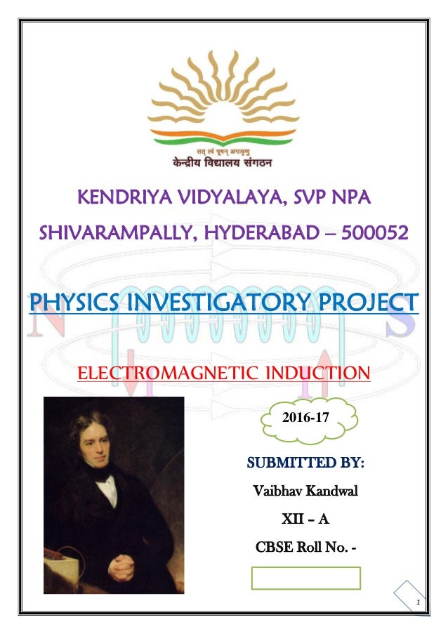 Physics Investigatory Projects For Class 12 Cbse Pdf