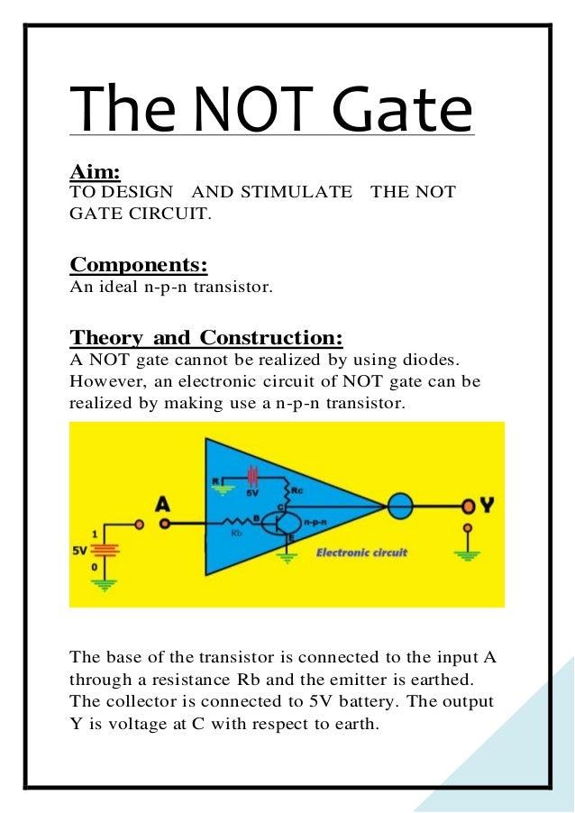 Logic Gates Project Pdf Class 12