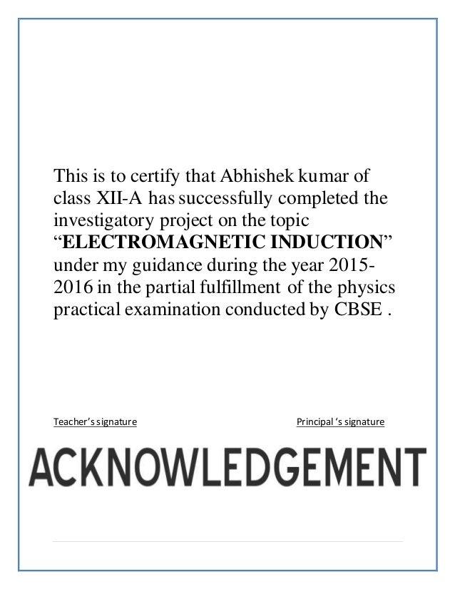 Physics project abhishek