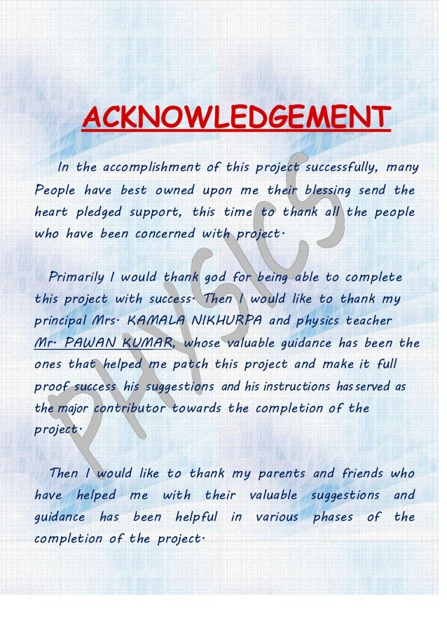 ACKNOWLEDGEMENT In the accomplishment of this project successfully, many People have best owned upon me their blessing sen...