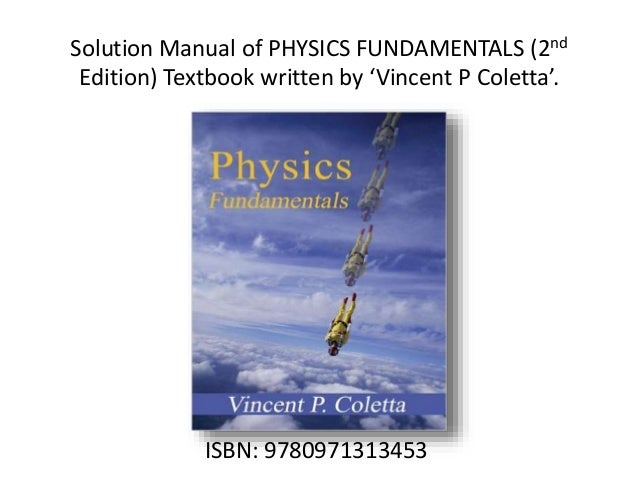 solution manuals of physics textbooks rh slideshare net Chegg Solution Manuals Solution Manuals Book