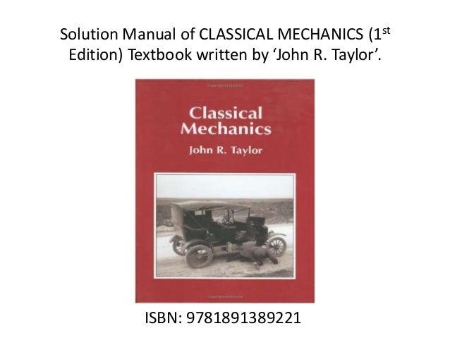 JR TAYLOR CLASSICAL MECHANICS PDF