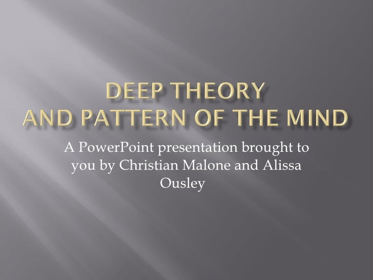 A PowerPoint presentation brought to you by Christian Malone and Alissa Ousley