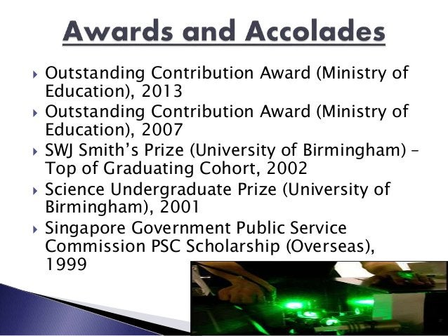  Outstanding Contribution Award (Ministry of Education), 2013  Outstanding Contribution Award (Ministry of Education), 2...