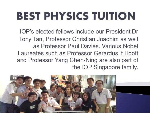 IOP's elected fellows include our President Dr Tony Tan, Professor Christian Joachim as well as Professor Paul Davies. Var...