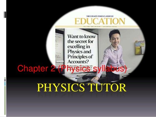 PHYSICS TUTOR Chapter 2 (Physics syllabus)