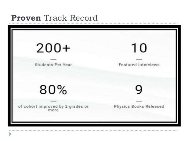 Proven Track Record
